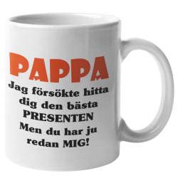 Mugg - Pappa presenten vit