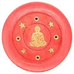 Rökelsehållare, Buddha - Röd röd