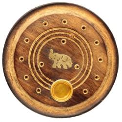 Rökelsehållare - Rund, Elefant brun