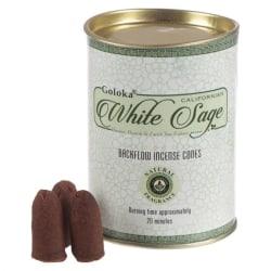 Rökelsekoner, Goloka Backflow  - White Sage