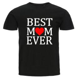 T-shirt - Best mom ever svart S