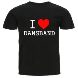 T-shirt - I Love Dansband svart L