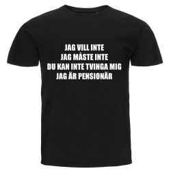 T-shirt - Jag är pensionär Storlek M