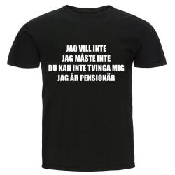 T-shirt - Jag är pensionär Black XL