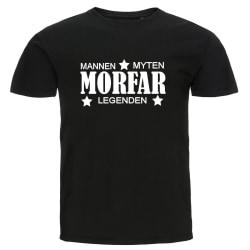 T-shirt - Morfar - Mannen, myten, legenden svart XXL