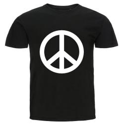 T-shirt - Peace svart M