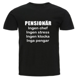 T-shirt - Pensionär, Inga pengar Storlek L