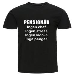 T-shirt - Pensionär, Inga pengar svart L