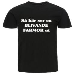 T-shirt - Så här ser en blivande farmor ut svart M