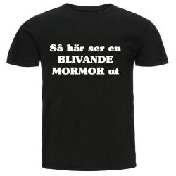 T-shirt - Så här ser en blivande mormor ut svart L