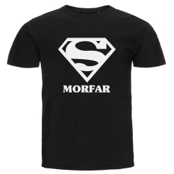 T-shirt - Super morfar svart M