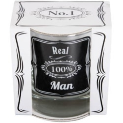 Whisky glas - 100% Real man