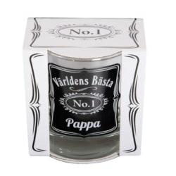 Whisky glas - Världens bästa pappa transparent
