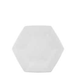 Tallrik 28cm 12-pack Helix 6-kantig Porslin Vit