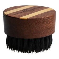 Aarex Beard Round Mahogany Beard Brush # 2