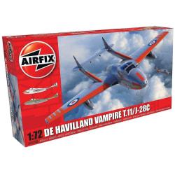 Airfix De Havilland Vampire T.11/J-28C 1:72 Modellbyggsats