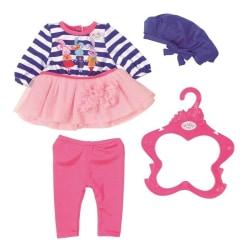 BABY born Fashion Outfit med Blå rosett