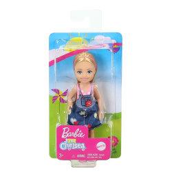 Barbie Chelsea Blond flicka med jeanskjol GHV65