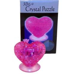 Crystal Puzzle 3D Hjärta 46 bitar