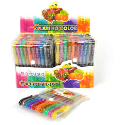 Gelpennor Glitter 10st multifärg