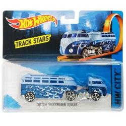 Hot Wheels Track Truck Custom Volkswagen Blå