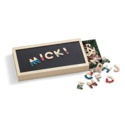 Micki Magnetbokstäver i låda med magnetplatta