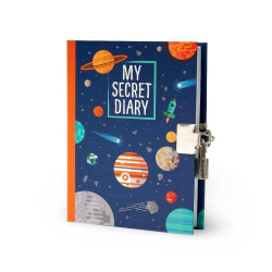 My secret diary Planets Dagbok med lås