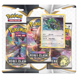 Pokemon 3-pack Sword & Shield Rebel Clash Rayquaza
