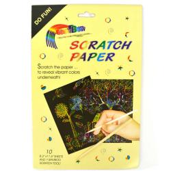 Rainbow Scratch Paper A4 10st multifärg