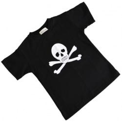 T-Shirt Pirat Jolly Roger M 140cl Svart M