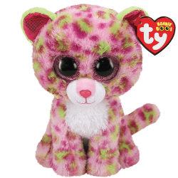 TY Beanie Boos LAINEY Leopard Rosa reg
