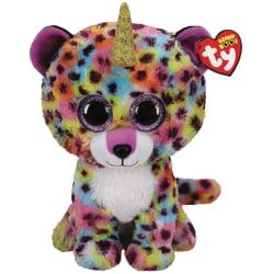 TY Beanie Boos M GISELLE Regnbågsfärgad Leopard med horn