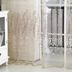 1*2.7M New Hot Floral Room Drape Panel Scarf Valance light yellow