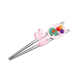 1 Pair Chopsticks for Sushi Baby Kids Solid Feeding Utensils Pink