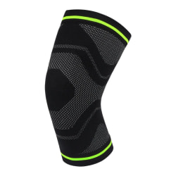 1pc Knee Pad Sleeve Compression Leg Support Bandage Protector black green XL
