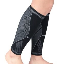 1pc Lower Leg Sleeve Anti-slip Compression Knitted Protector Black XL