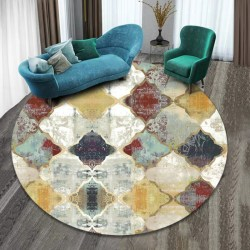 3D Carpet Geometric Magic Hole Design Fancy Floor Carpet Mat l 40 40cm