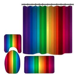 3D Digital Printing Rainbow Pattern Home Shower Curtain a8