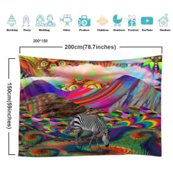 3D Magic Forest Hanging Flannel Art Tapestries Home Decoration A11 150x 200cm
