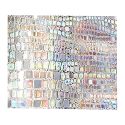 3D Privacy Film Stained Glass Window Sticker Rainbow Effect as show 45x100cm