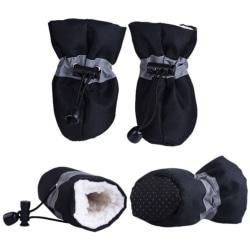 4 st sällskapsdjur hund skor regn snö vattentät bootie gummi halkskydd