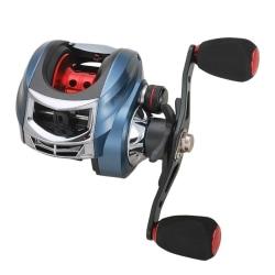 7.2:1 17 Plus 1 Bearing Baitcast Reel (Magnetic) Fishing Wheel Blue 18