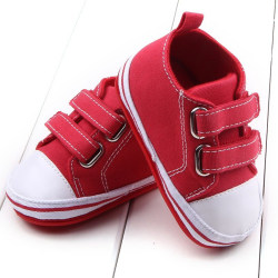 Autumn Spring Baby Shoes First Walkers Fashion Cool Kids red 12