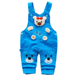 Baby Corduroy Overalls Children Autumn Infant Rompers Blue S