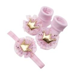 Baby Girl Headwear Set Newborn Baby Cute Lace Cotton Hairband