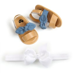 Baby Girls Bow Sandals PU Princess Soft Bottom Shoes Girls Baby