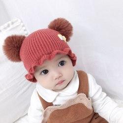 Baby Hat Girls Cartoon Print Hats Autumn Winter Warm Cap Girls