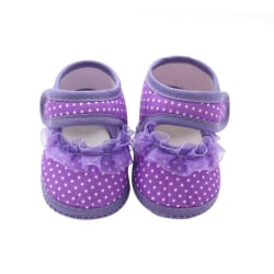 Baby Newborn Shoes Soft Sole Cotton Moccasins leisure Shoes purple m