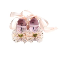 Baby Shoes Bow Tie Strap Toddler Shoes Girl Princess Dance Shoes pink l