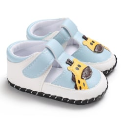 Baby Shoes Fashion Cutout Boys Girls Shoes Animals Cute Shoes sky blue 13-18 months